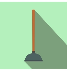 Plunger flat icon with shadow vector