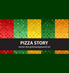 polka dot pattern set pizza story seamless vector image vector image