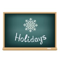 School board holidays vector