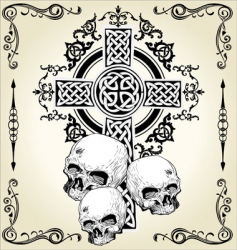 skull cross tattoo vector image
