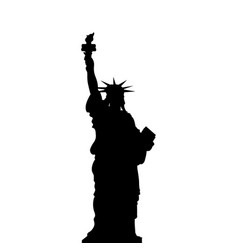 Statue of liberty new york usa simple black vector