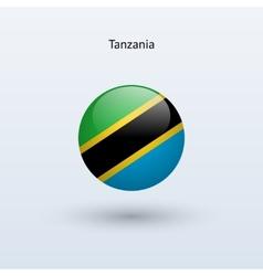 Tanzania round flag vector