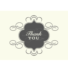 Thank you card Templates vector image