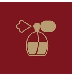 The perfume icon sprayer symbol flat vector