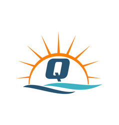 Wave sunset initial q vector