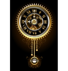 Clock with pendulum vector