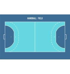 Handball field top view vector