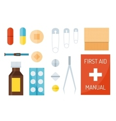 First aid symbols vector