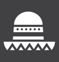 Sombrero mexican hat solid icon travel tourism vector