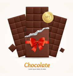 Chocolate package bar blank for advertizing vector