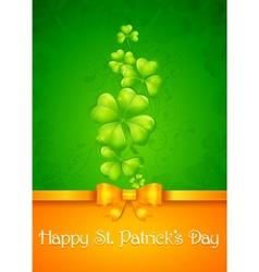 Patricks day card vector image