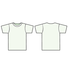 Unisex tshirt template vector