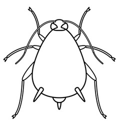aphid contour insect vector image vector image
