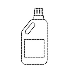 blank plastic bottle for laundry detergent vector image