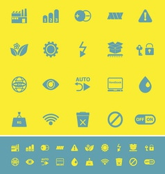 Electronic sign color icons on yellow background vector image vector image