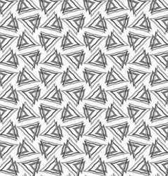 Flat gray with interlocking triangles vector