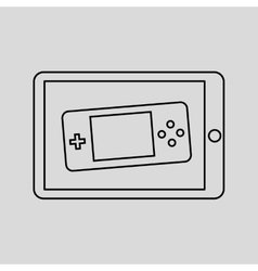 games online entertainment isolated icon design vector image vector image