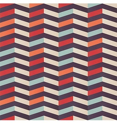 Geometric seamless pattern with colorful chevron vector image vector image