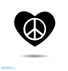 heart icon symbol of love valentine pacific vector image vector image