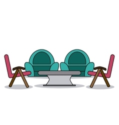 Home related chairs vector image
