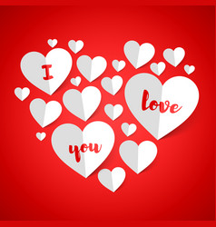 i love you happy valentines day greeting card vector image