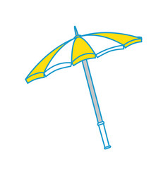 Isolated beach umbrella vector