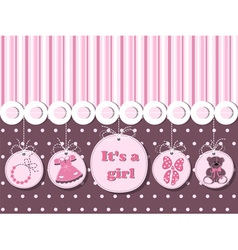 It is a girl card for greeting invitations vector