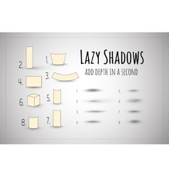 Lazy shadows design elements templates vector
