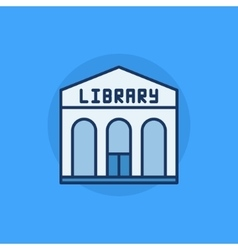 Library building flat icon vector