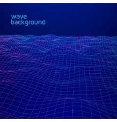 Line wave geometric background vector