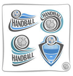 Logo handball ball vector