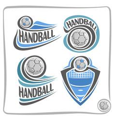 logo handball ball vector image vector image