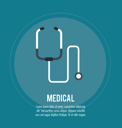 Medical health care stethoscope vector