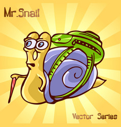 Mr snail with traveler vector
