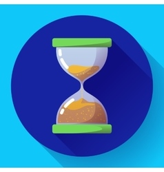 old vintage hourglass icon flat - time vector image vector image