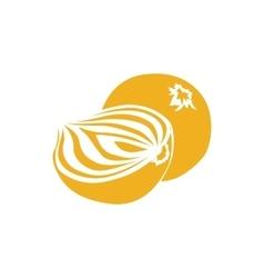 Onion icon simple style vector