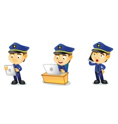 Policeman 3 vector image vector image