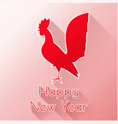 red rooster happy new year vector image