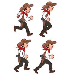 Running cowboy sprite vector