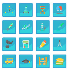 Science education icon blue app vector