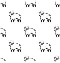 Sheep icon black single bio eco organic product vector