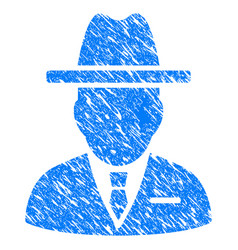 Spy person grunge icon vector