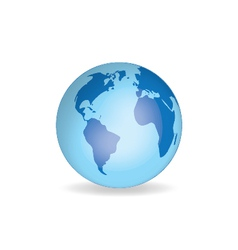 World globe v1 vector image