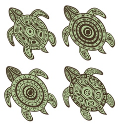 Turtles set vector