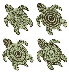 Turtles set vector image