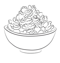 Cartoon image of bowl of cereal vector