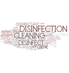 Disinfect word cloud concept vector