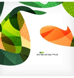 Colorful abstract flowing shapes vector