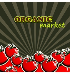 Tomatoes organic food concept vector