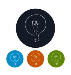 Icon lightbulb vector image